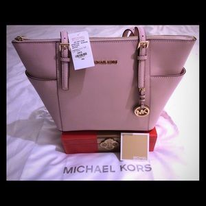 MICHAEL KORS ROSE PINK JET SET TOTE. BRAND NEW.